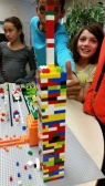 A LEGO tower