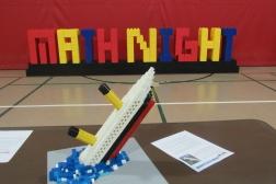 The Titanic at LEGO Math Night